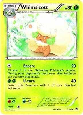 12//98 Rare Pokemon BW2 Emerging Powers M//NM English x4 Whimsicott