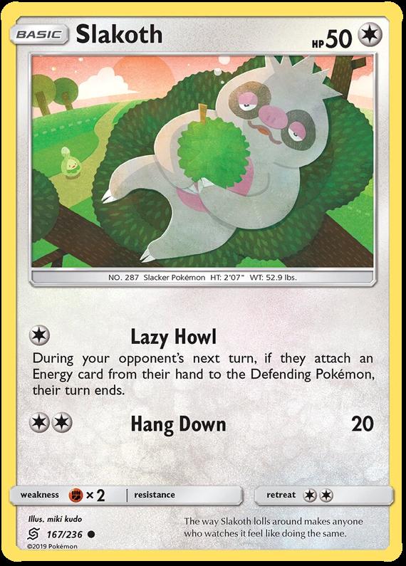 NM Slakoth 167//236 Unified Minds Set Common Reverse Holo Pokemon Card