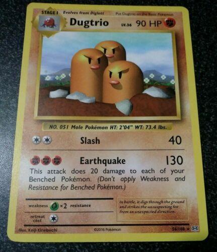Pokemon Cards XY Evolutions Dugtrio 56//108 Rare