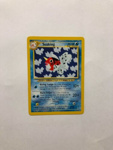 POKEMON NEO REVELATION ENGLISH UNCO 1ed N° 37//64 SEAKING