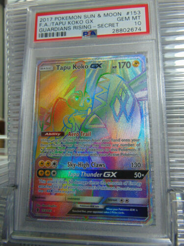 Tapu Koko GX Hyper 153//145 Guardians Rising PSA 10 Gem Mint Rare Pokemon Card