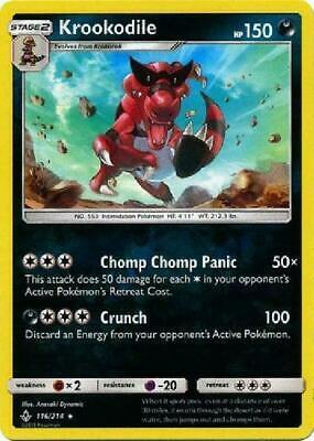 Krookodile - 116/214 Reverse Holo Foil Pokemon Unbroken Bonds