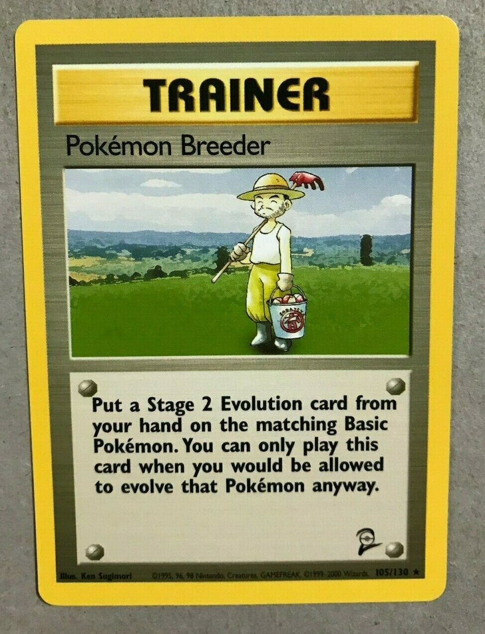Pokemon Breeder 105//130 Base Set 2 Pokemon Card Exc Cond #