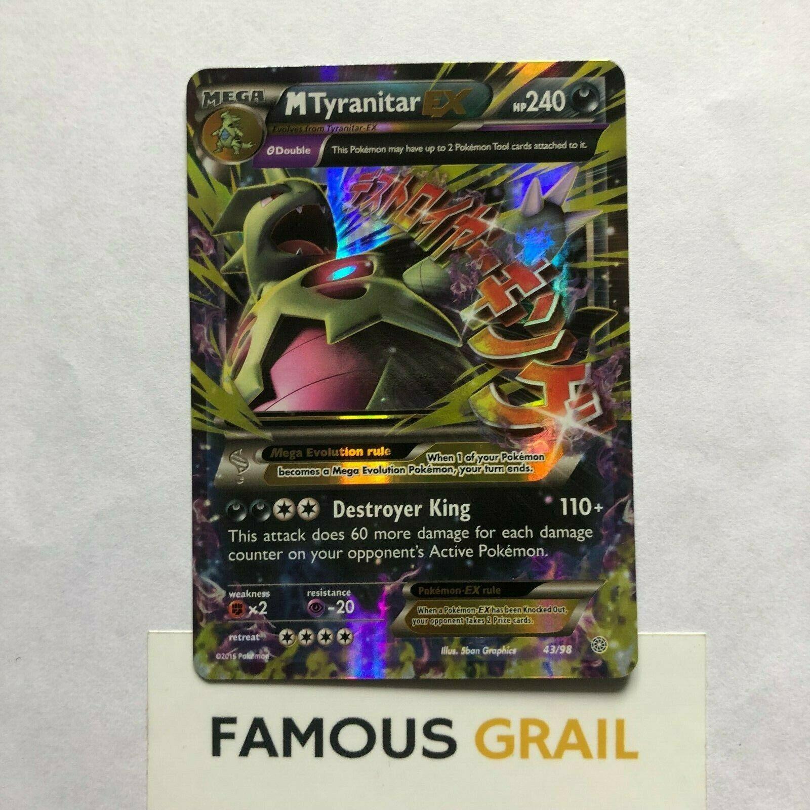 Tyranitar EX 42//98 Ancient Origins Near MInt Pokemon Card Ultra Rare