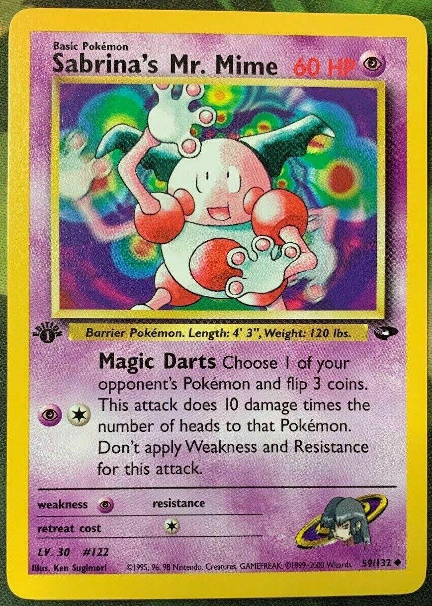 Mime 94//132 Gym Heroes COMMON Pokemon Card NEAR MINT Sabrina/'s Mr