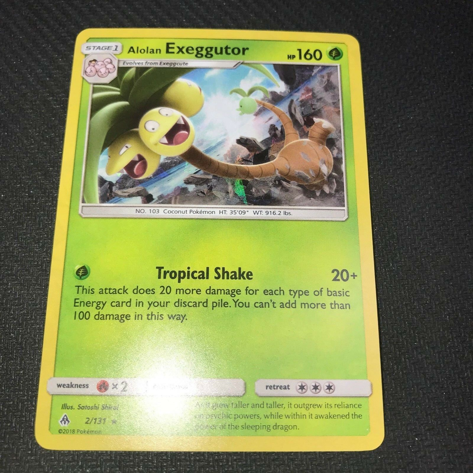 Pokemon Alolan Exeggutor 2//131 Reverse Holo Rare Forbidden Light Near Mint