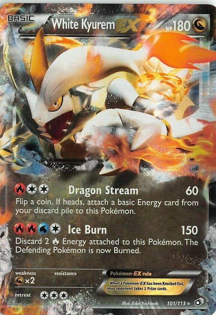 BW Legendary Treasures Pokemon White Kyurem EX 101//113 Half Art