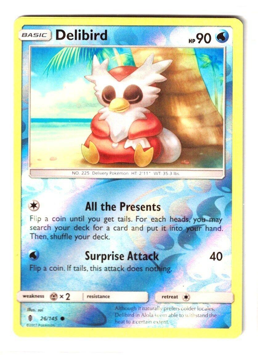 Common Pokemon Card 2017 Delibird 26//145 Guardians Rising Set - NM