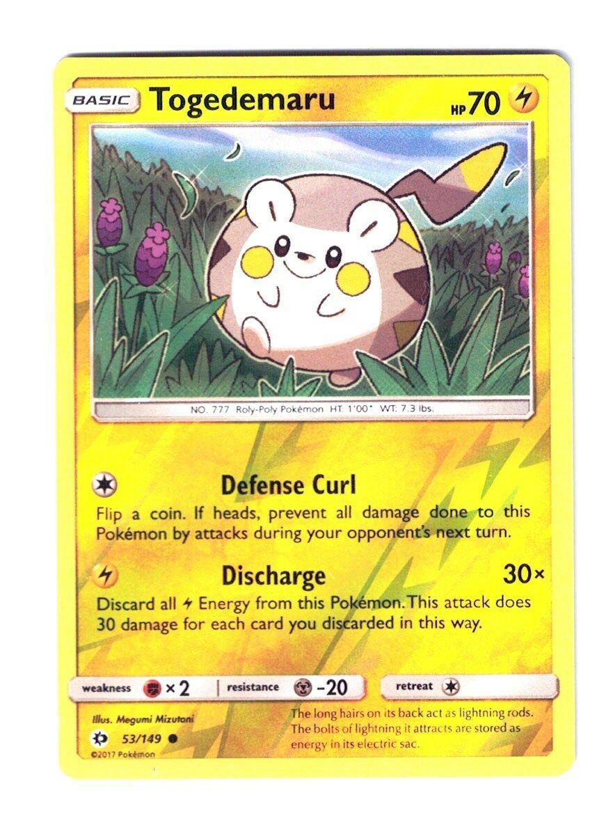 Togedemaru x4 Pokemon Sun /& Moon Base Set Common 53//149 NM-Mint SM01 4x