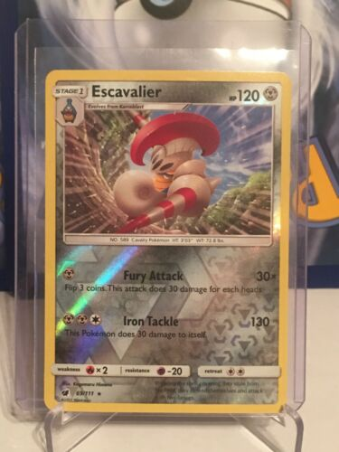 Pokemon ESCAVALIER 69/111 RARE REVERSE HOLOFOIL MINT CARD  CRIMSON INVASION