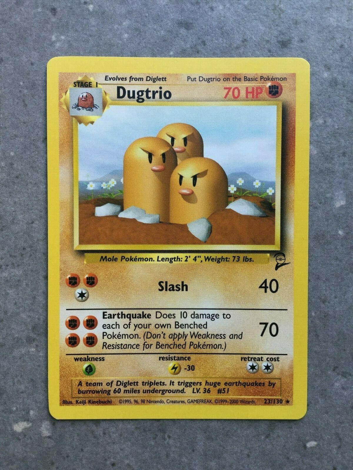 2000 pokemon base 2 Dugtrio 23//130