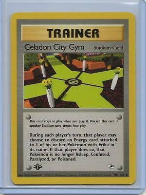 Celadon City Gym 107//132 Gym Heroes Pokemon Card Excellent Cond #