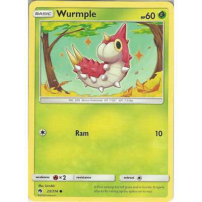 Lost Thunder 24//214 Common 4 x Wurmple
