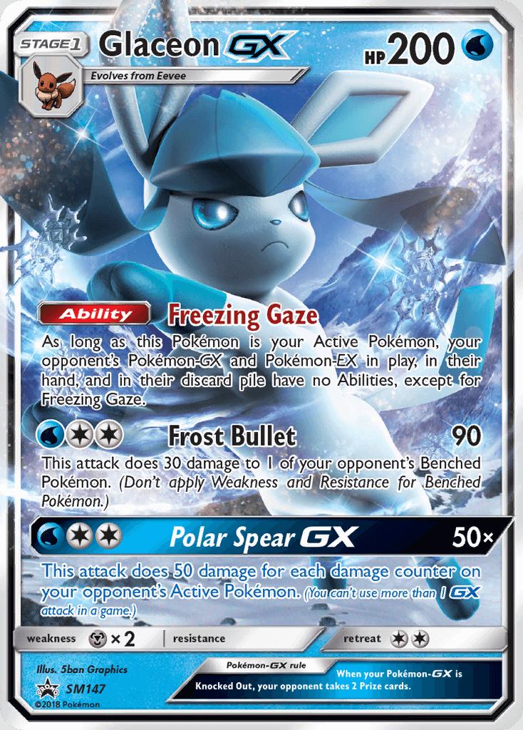 Ultra Rare NM//M Sun /& Moon Black Star Promo Pokemon Card! SM147 Glaceon GX