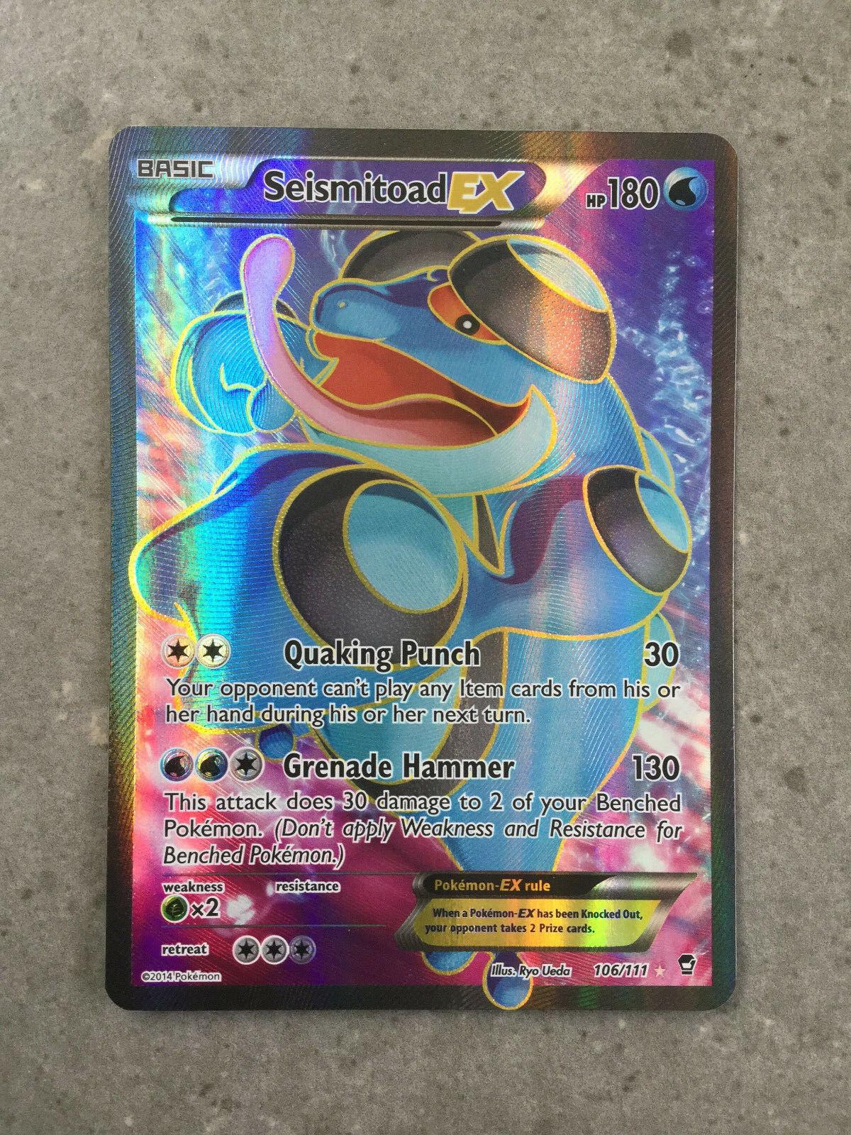 Seismitoad EX Full Art Ultra Rare PL Pokemon XY Furious Fists 106//111