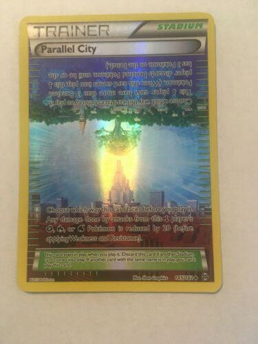 Pokemon PARALLEL CITY 145//162 BREAKTHROUGH Reverse Holo City Championship NM