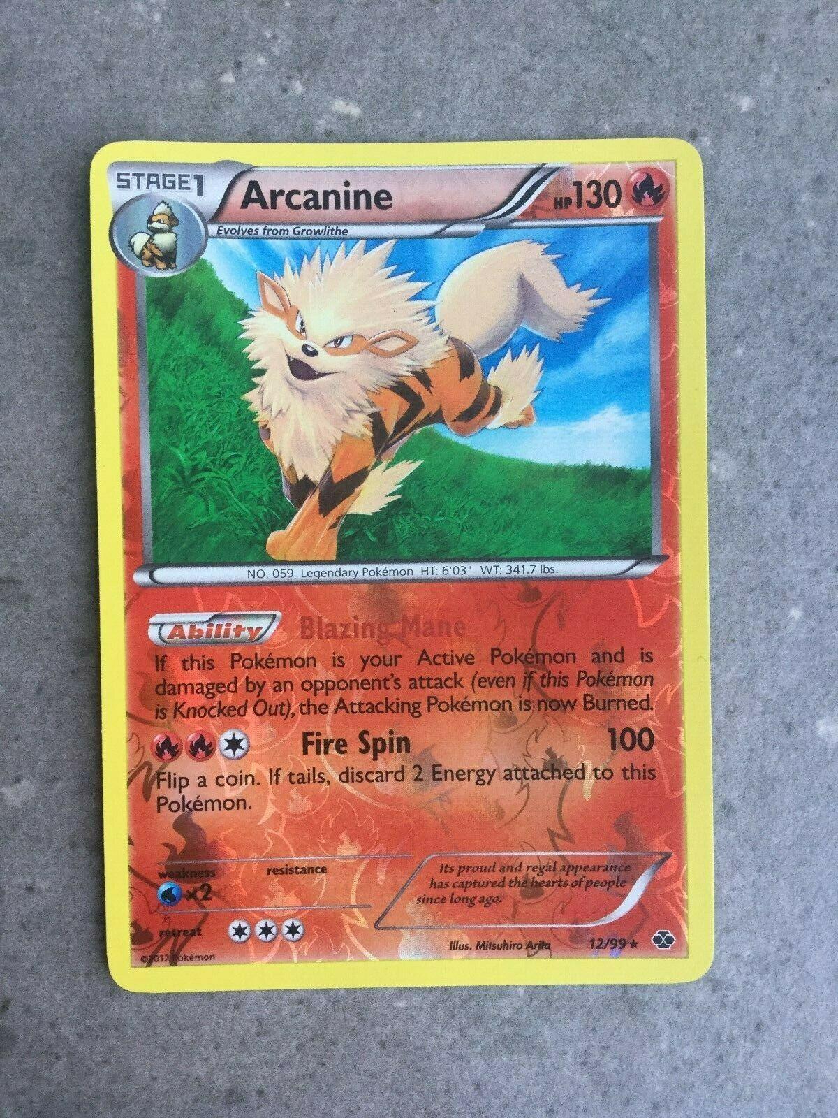 12//99 Arcanine Prerelease Promo Pokemon BW Next Destinies