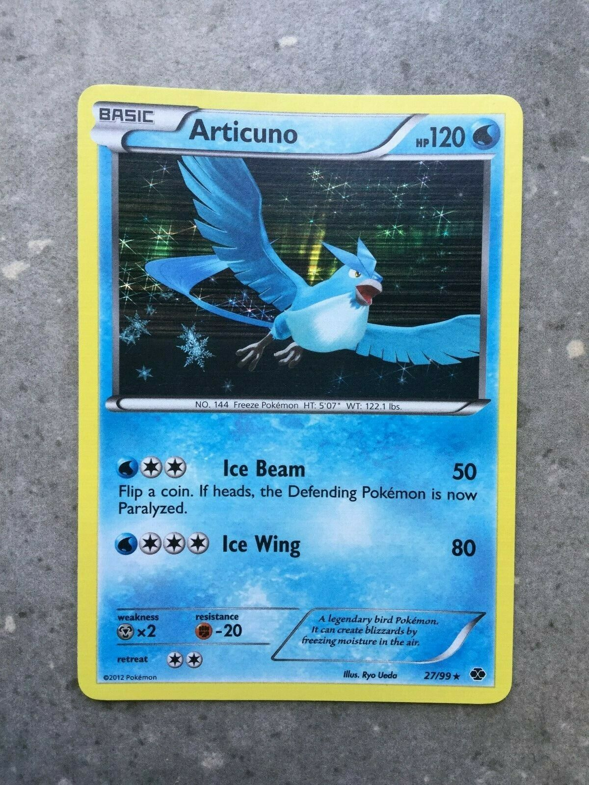 Articuno Reverse Holo Uncommon Pokemon Card Black /& White Next Destinies 27//99
