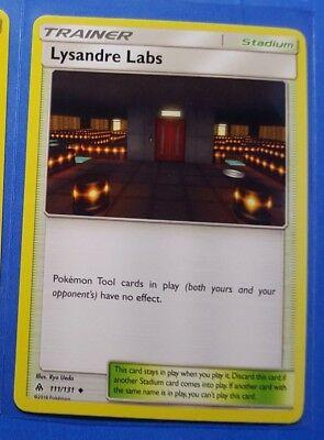2x Lysandre Labs 111/131, 3x Litleo 18/131 Pokemon card SM Forbidden Light NM - Image 1