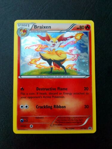 Pokemon Evolutions Black Kyurem XY160// Braixen XY161 HOLO MINT lot of 2