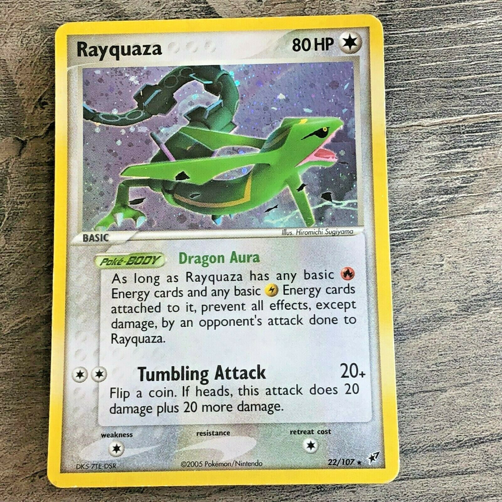Rayquaza 22//107 Ex Deoxys Holo English Pokemon LIGHT PLAY