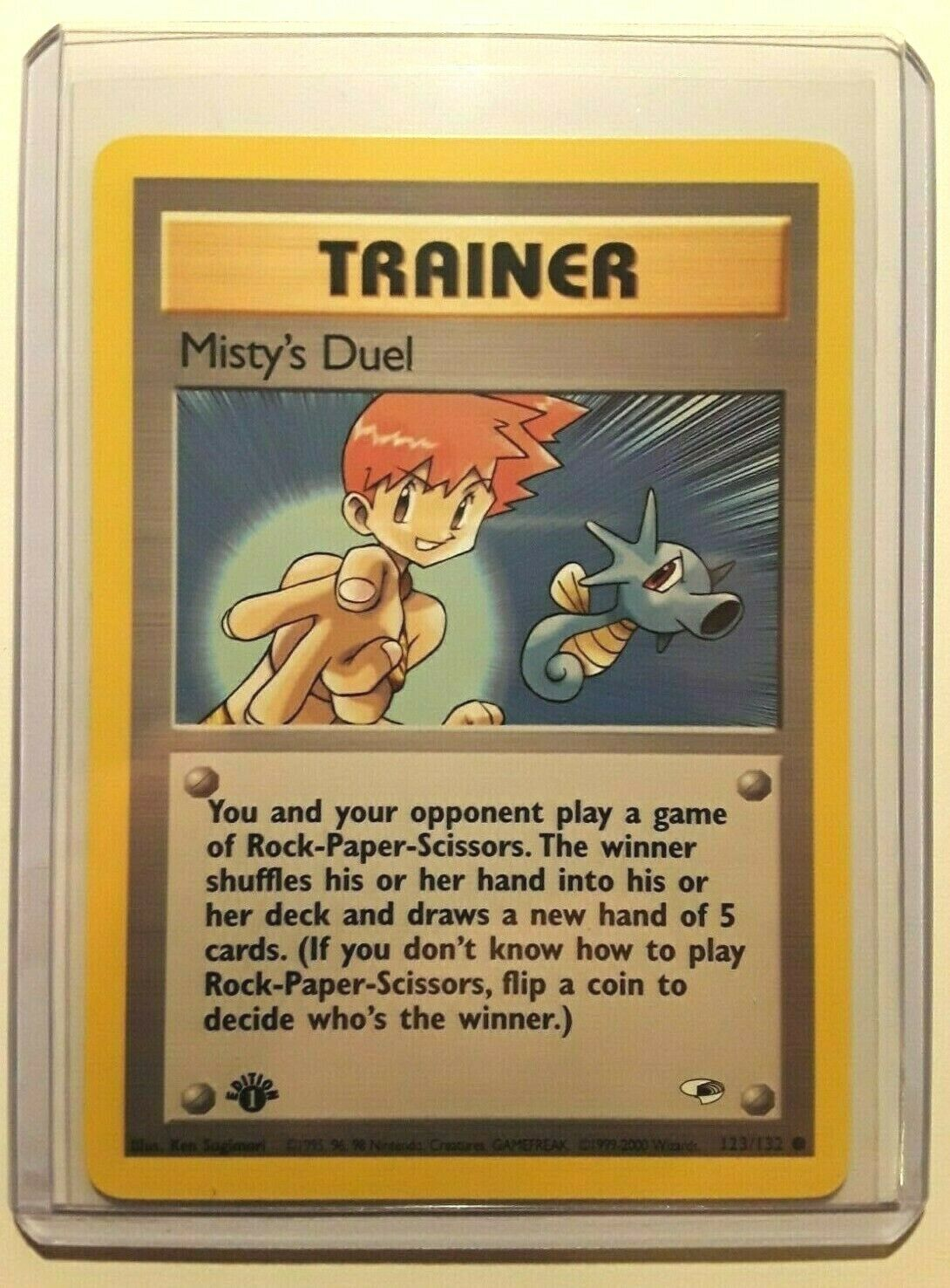 Common Pokemon Gym Heroes Englisch Misty/'s Duel First Edition 123//132
