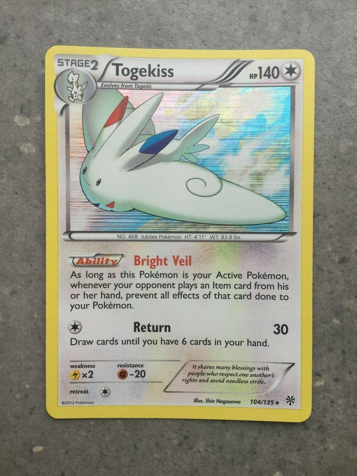 Togekiss 104//135 B/&W Plasma Storm HOLO MINT Pokemon