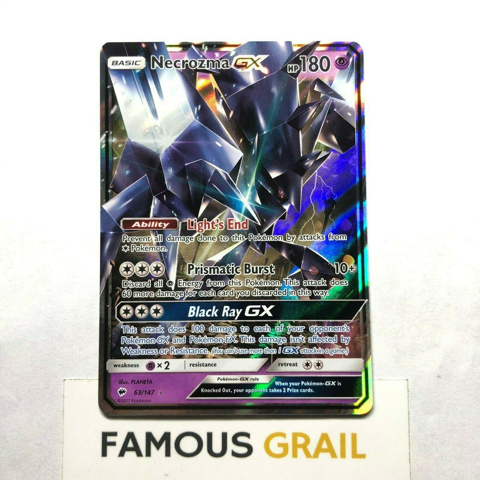 134//147 Burning Shadows FULL ART Ultra Rare Pokemon Card Necrozma GX