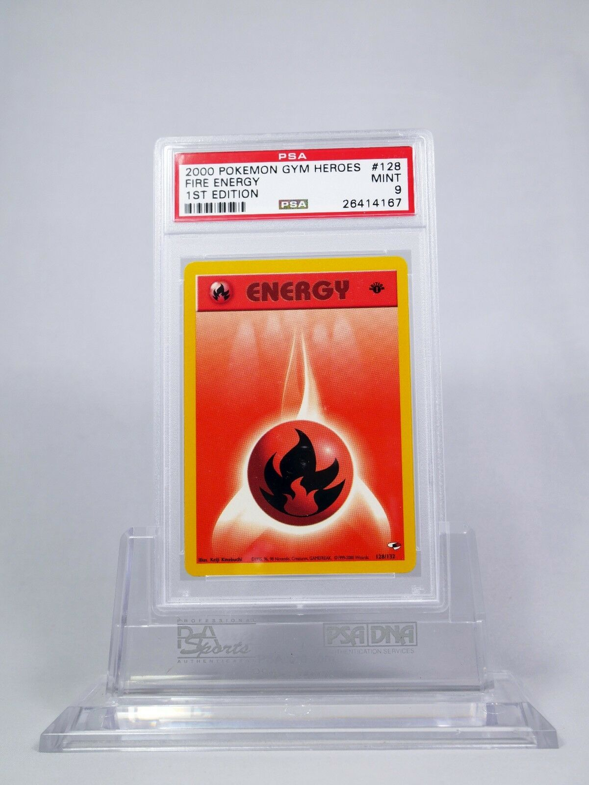 Common Fire Energy First Edition 128//132 Pokemon Gym Heroes Englisch