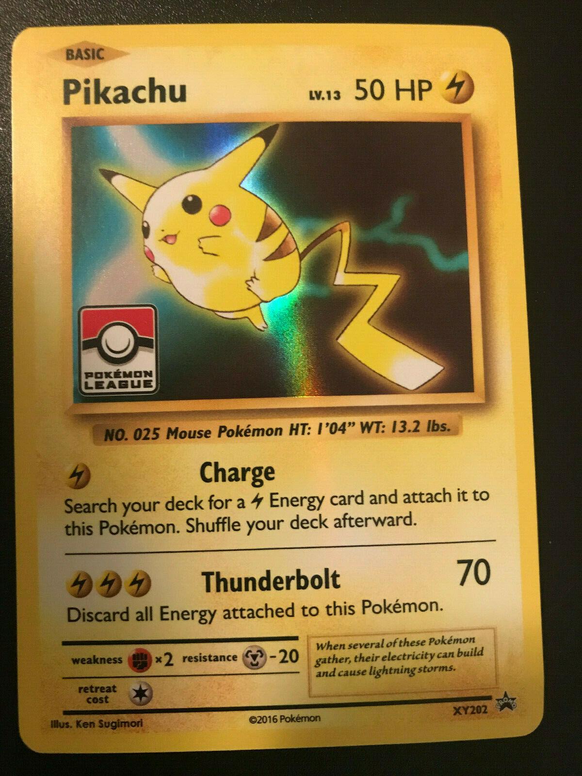 Pokemon Card Pikachu XY202 Englisch Black Star Promo NM//Mint