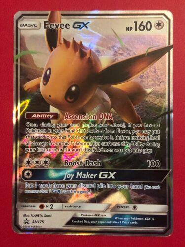 Pokemon Card   EEVEE GX   Ultra Rare SM175  SUN and MOON  PROMO *MINT*