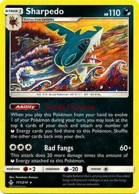 x4 Sharpedo - 111/214 - Rare Pokemon SM10 Unbroken Bonds M/NM English - Image 1