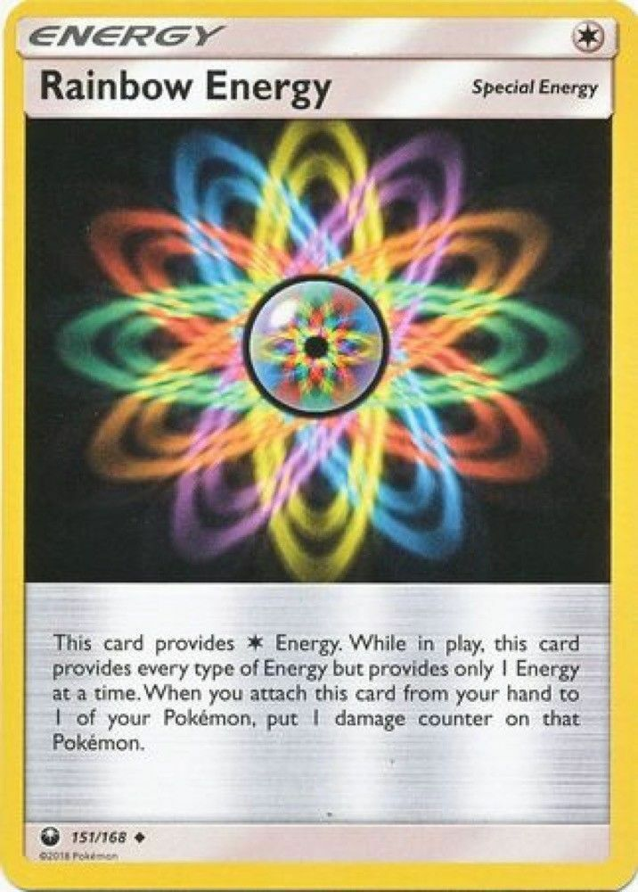 NM//M Reverse Holo 152//162 Rainbow Energy Pokemon Card