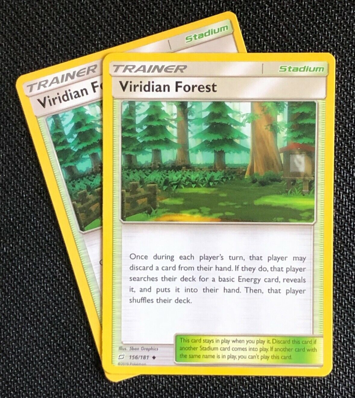 Pokemon Reverse Holo Team Up NM//M Viridian Forest 156//181 SM9