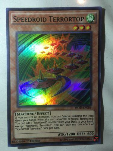 HSRD-EN001 1st Edition Near Mint Super Rare YuGiOh Speedroid Terrortop