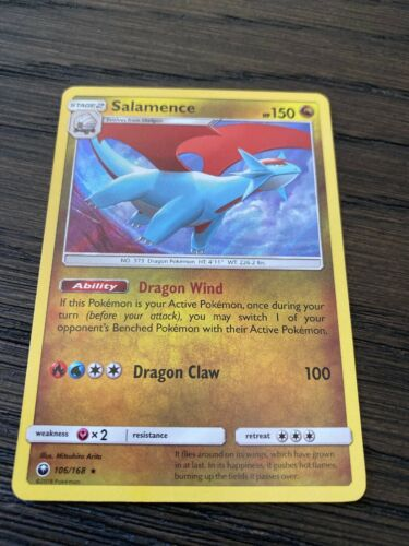 Pokemon: Salamence Reverse Holo Celestial Storm 106//168 Holo Rare