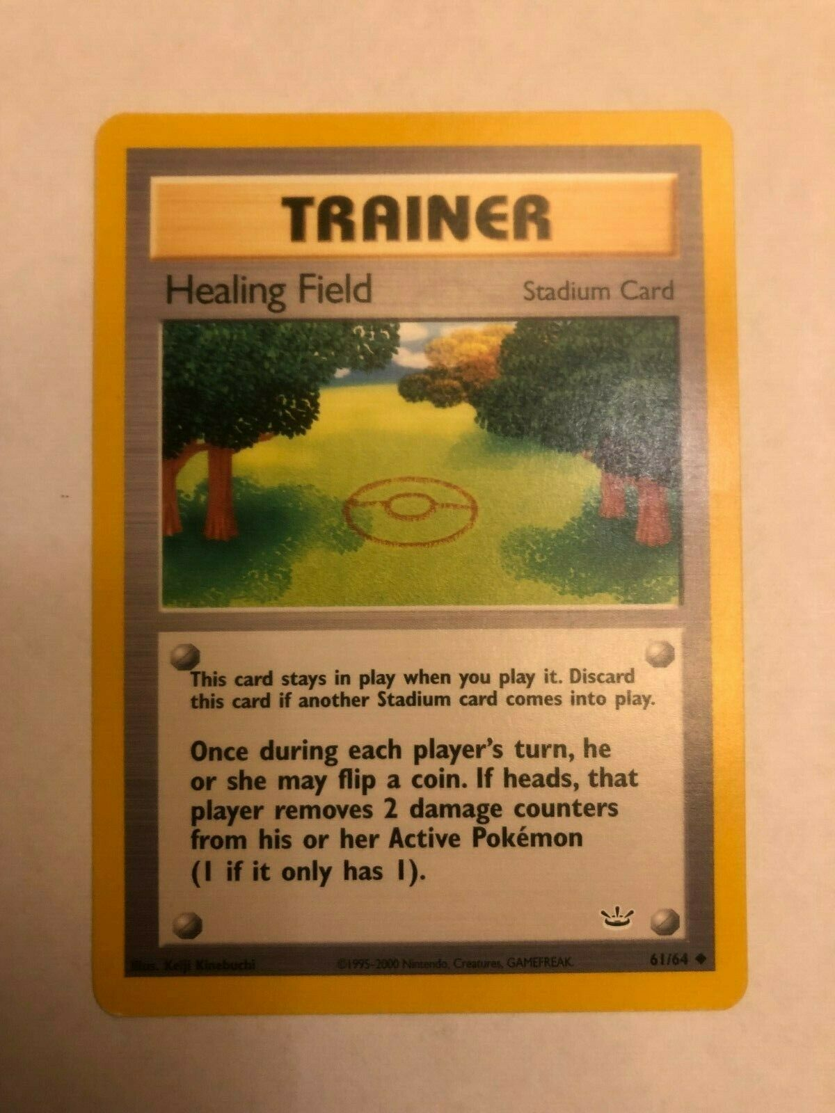 Healing Field 61//64 Neo Revelation Unlimited Common MINT Pokemon