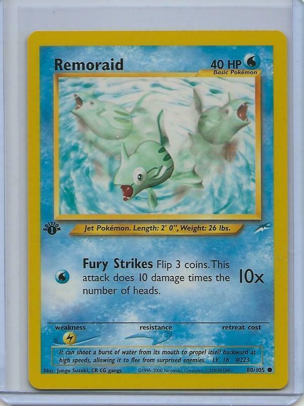 Pokemon Neo Destiny 1st Edition Common Card #80//105 Remoraid