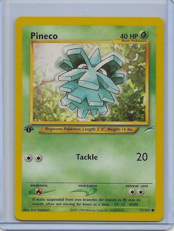 Pokemon Neo Destiny 1st Edition Common Card #77//105 Pineco
