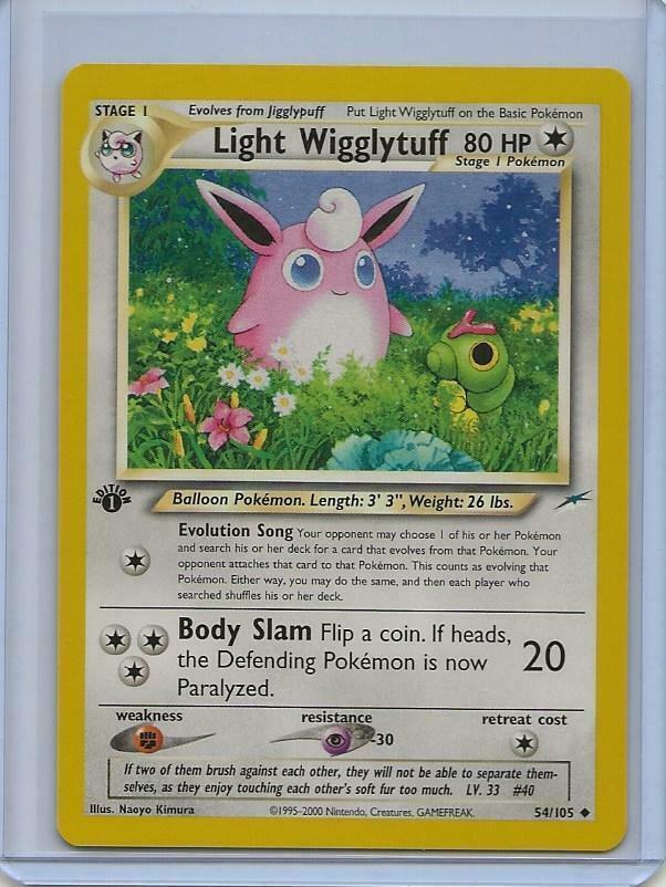 Light Wigglytuff 54 Neo Destiny Uncommon Pokemon Card Near Mint