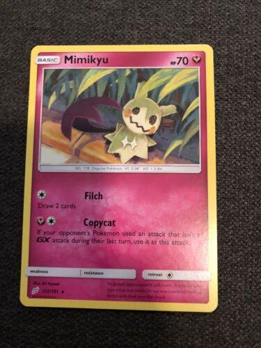 Pokemon card mimiqui 112//181 rare reverse sun and moon 9 sl9 fr new