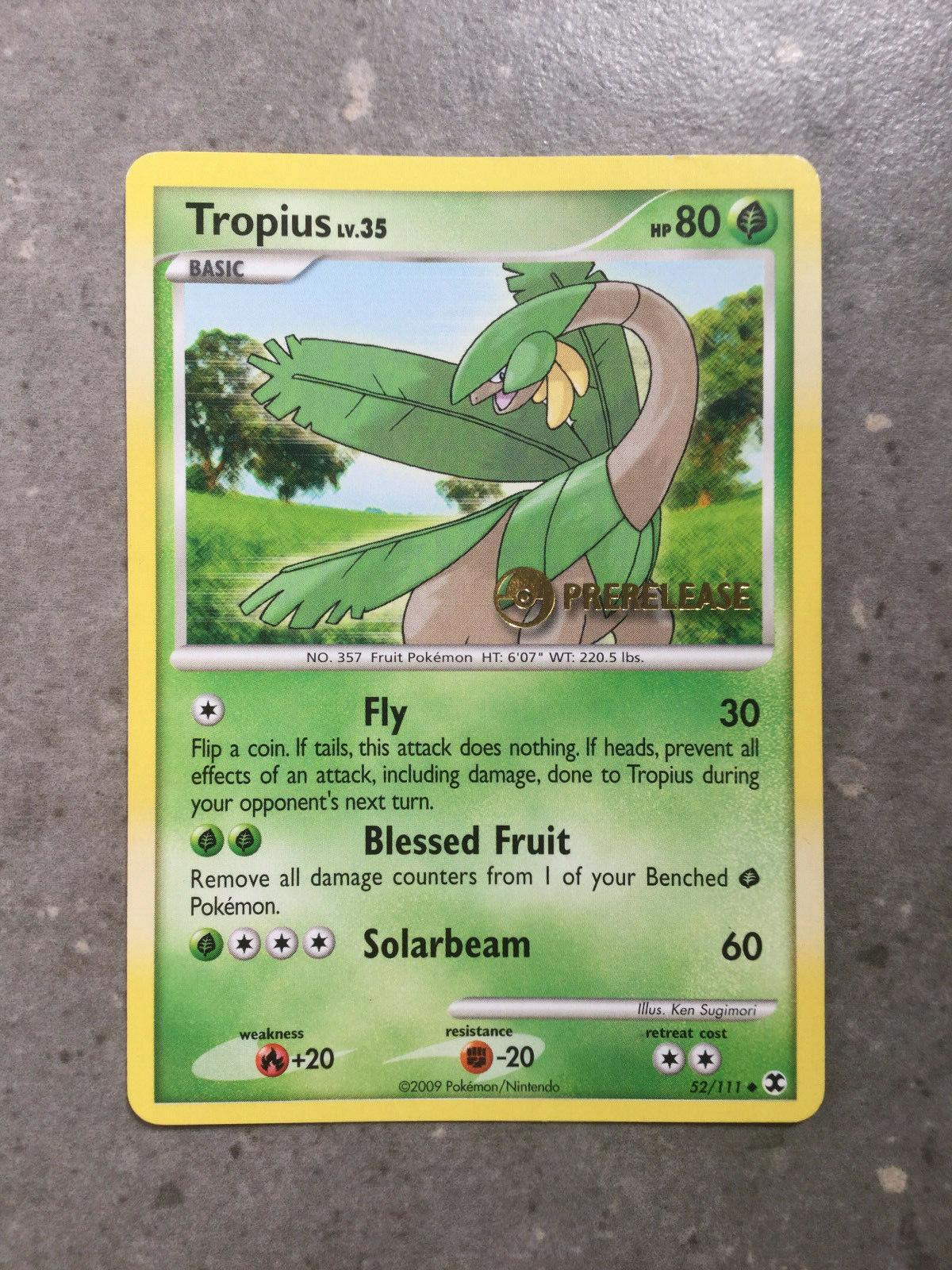 Prerelease Promo STAFF Pokemon Tropius 52//111 Rising Rivals