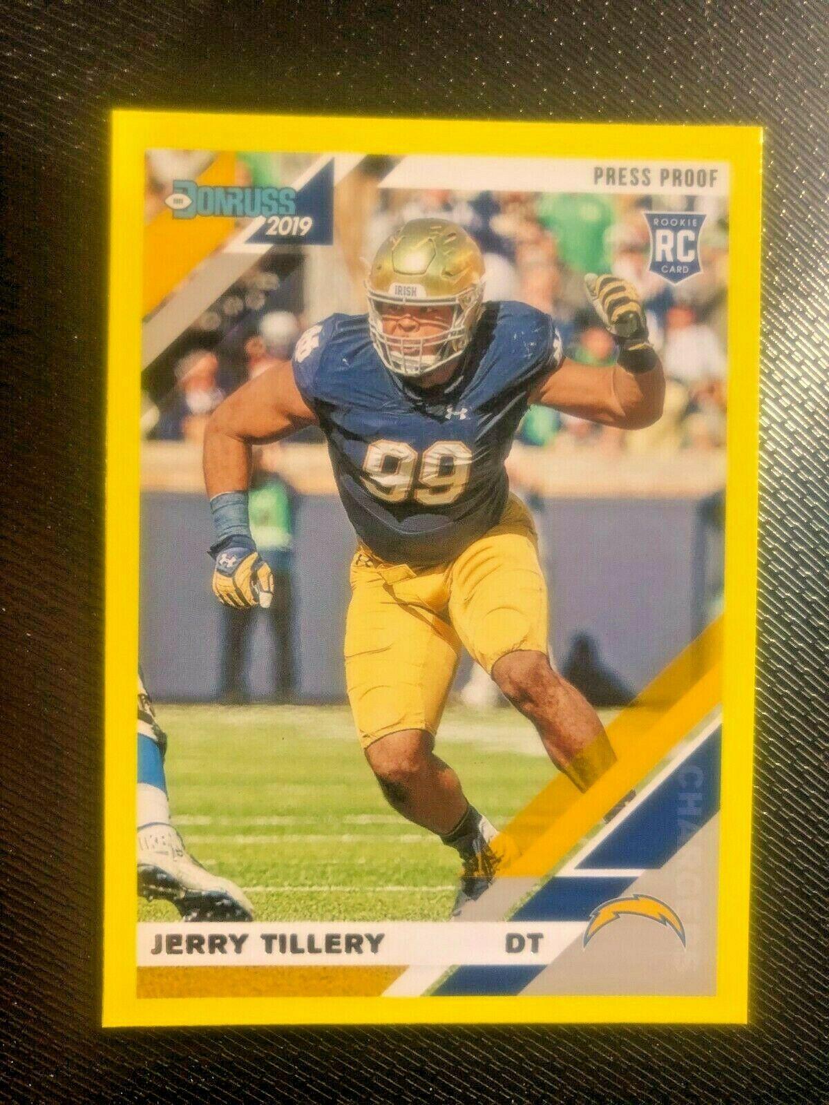 Rookie 2019 Donruss Football Sammelkarte #262 Jerry Tillery