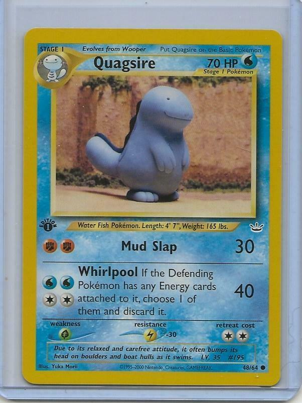 Quagsire 48//64 Neo Revelation Set COMMON Pokemon Card NEAR MINT