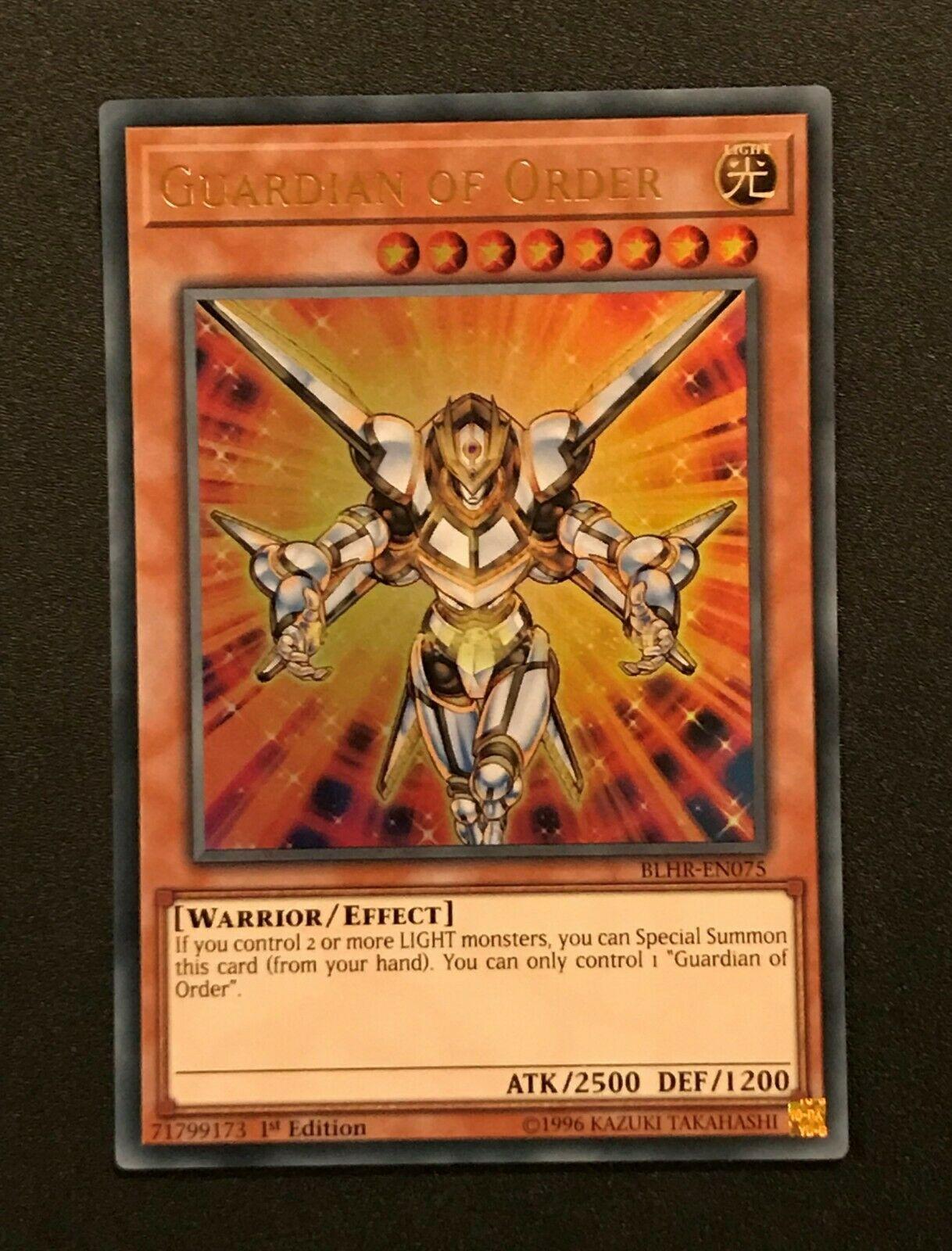 Guardian of Order BLHR-EN075 Ultra Rare 1st NM Yugioh