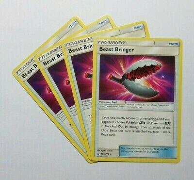 Beast Bringer x4 -164/214 Unbroken Bonds - Pokemon Trainer Cards Playset