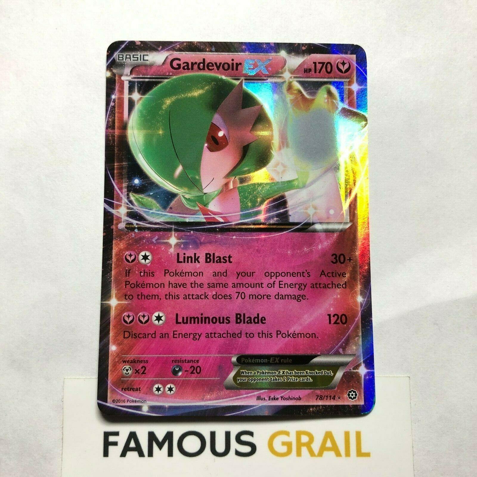 NM Pokemon GARDEVOIR EX Card STEAM SIEGE Set 78//114 XY X Y Ultra Rare HP170 TCG