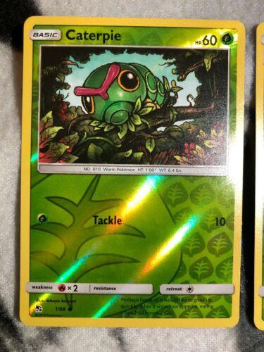 NM-M 4x Caterpie 1//68 Common Pokemon TCG SM Hidden Fates