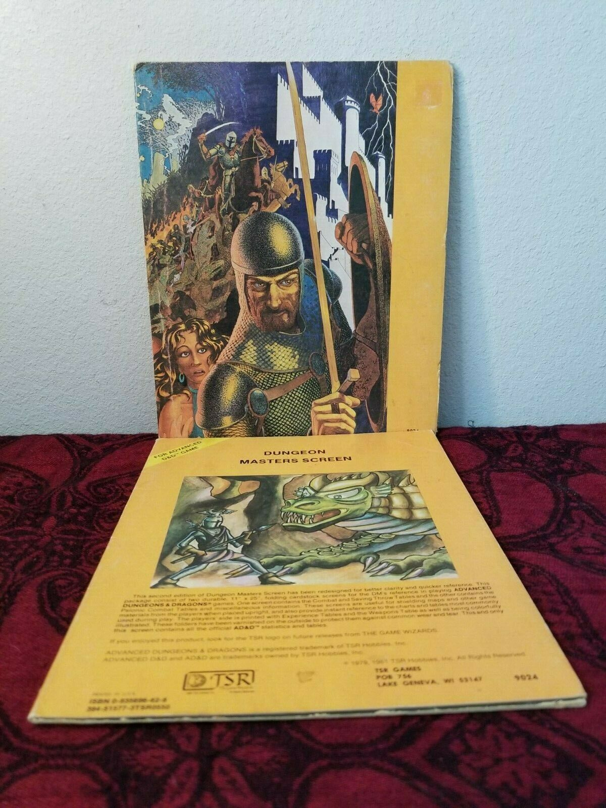 AD/&D vintage Dungeons /& Dragons DM Screen complete 9504 free shipping