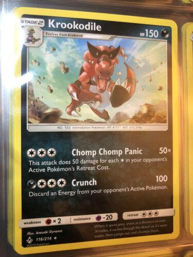 Pokemon Krookodile - 116/214 - Rare NM-Mint Unbroken Bonds